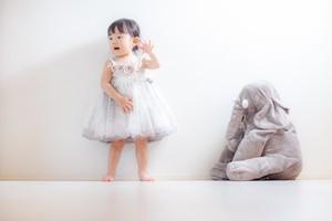 キッズ ドレスレンタル リングガールドレス 発表会ドレス キッズドレス  七五三ドレス【DR7】18403 「Ryusa rose」 誕生日 フラワーガール リングガール キッズドレス ベビードレス 1~2歳