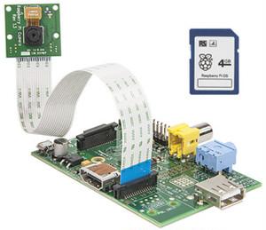 【共同購入チケット】Raspberry Pi  Type A + Camera & 4gb SD OS(誰でも気軽に楽しむことができるシンプルなコンピューター+カメラ)