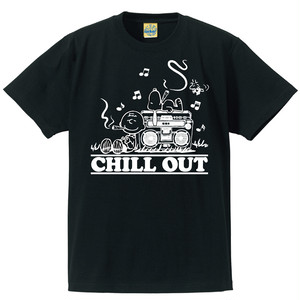 [CHILL OUT] T-shirt / Black