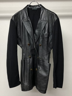 1980s JEAN PAUL GAULTIER DB LEATHER JACKET