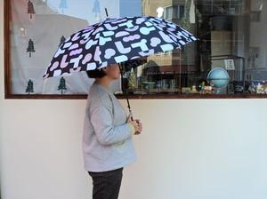 雨傘(幾何学模様・黒色)