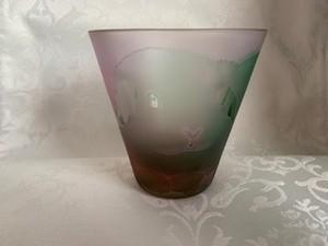 ガラス工房moko「たれみみちゃん イチゴ ロック」 グリーン