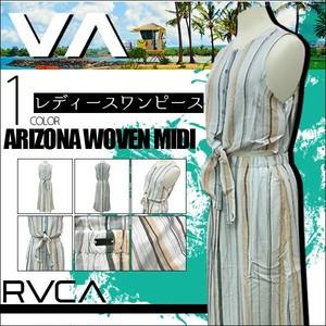 AJ043-358 ルーカ レディース 人気ブランド ARIZONA WOVEN MIDI ワンピース XS S 白系 新作 リゾート ストライプ おしゃれ 南国 RVCA