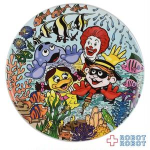 マクドナルド 絵皿 ロナルドと魚
