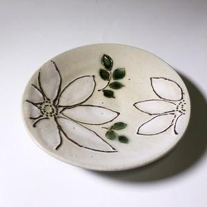 手づくり陶芸 イッチン釉彩皿 Pottery Icchin painted plate