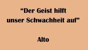 """アルト用 """"Der Geist hilft unser Schwachheit auf"""" BWV 226 Karaoke for Alto"""