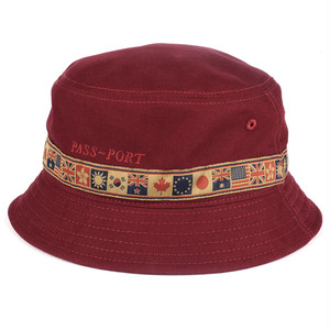 PASS PORT (パスポート) / INTER SOILD BUCKET HAT -BURGUNDY-