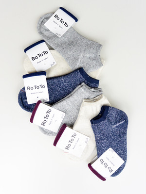 ROTOTO(ロトト)WASHI PILE SOCKS SHORT R1024 UNISEX