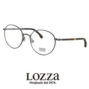 lozza メガネ vl2257n 0627 眼鏡 ロッツァ ラウンド ボストン メタル コンビネーション ウェリントン 丸眼鏡