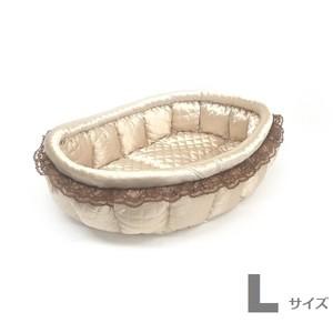 ふーじこちゃんママ手作り ぽんぽんベッド (サテンシャンパン) Lサイズ