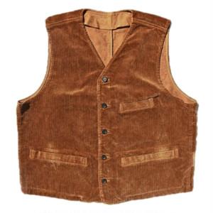 Porter Classic Corduroy Classic vest ポータークラシック コーデュロイ ベスト (GOLDEN BROWN) [PC-018-1167]