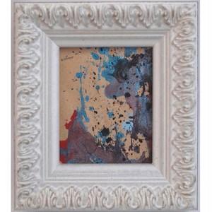 「無題」 紙にアクリル * 現代美術 アート作品 ドローイング ミニ額 フレーム 内野隆文 takafumiuchino