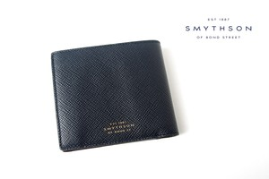 スマイソン|SMYTHSON|パナマコレクション|カードコインパース|ネイビー