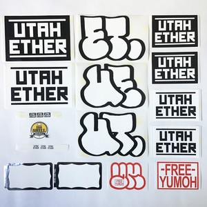 UTAH ETHER Sticker Pack