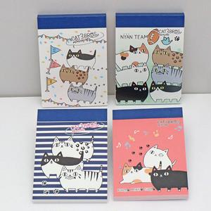 【猫3兄弟】ミニ4Pメモ帳 (スポーツ)【猫柄 23016】