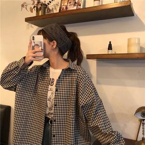 【トップス】チェック柄カジュアルファッションシャツ22170526