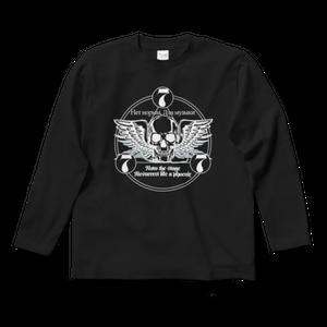 ロックTシャツ(777ロゴ:黒・背面・長袖)
