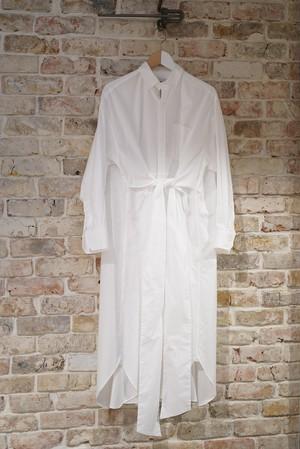 HYKE / OXFORD SHIRT DRESS (WHITE)
