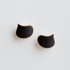 """""""EBISU"""" Bamboo stud earrings"""