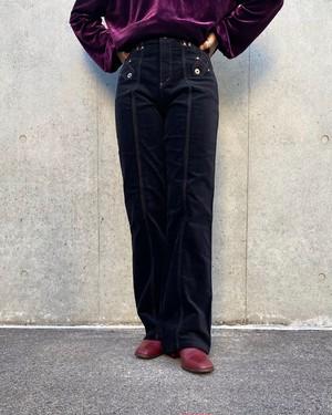 (PAL) stitch velours pants