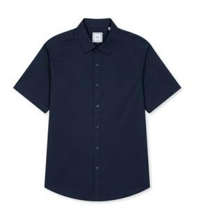 送料無料メンズビジネスコーデシンプルコットン半袖ワイシャツ6色