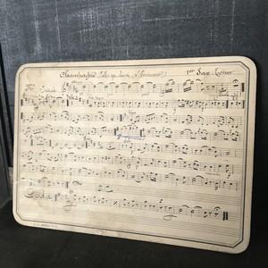 フランスアンティーク ミュージックカード C