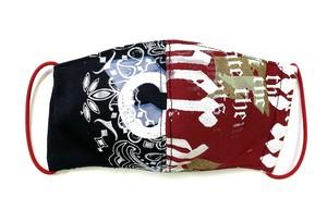 【COTEMER マスク 日本製】RED × PRINT MASK 0419-111