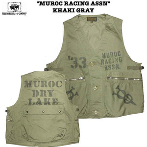 """MUROC RACING ASSN"" KHAKI GRAY FREEWHEELERS / フリーホイーラーズ UNION SPECIAL OVERALLS Lot 1921019"