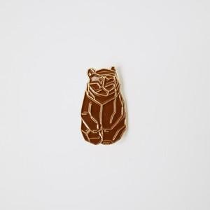 23546pins  木彫り熊 BROWN ピンズ