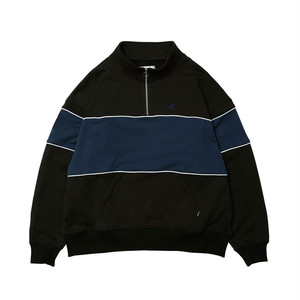 EVISEN PLUMBER HALF ZIP SWEAT BLACK L