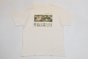 USED Beneficial T's SALMON RUN 2001 T-Shirt -Medium