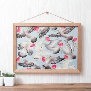 ポスター *とびまわる鳩たち