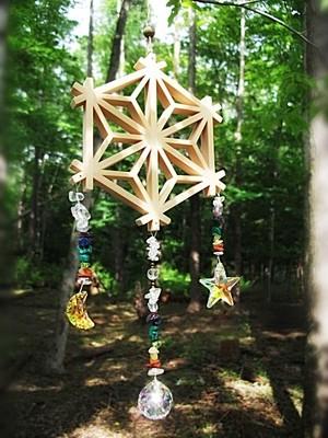 麻の葉 -日月星-