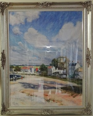 シスレーの風景画再構成 油絵 手描き