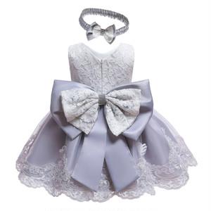 子供ドレス キッズ ベビー ジュニア 女の子ドレス フォーマルドレス パーティードレス 赤ちゃん 出産祝い お宮参り 新生児 グレー70cm-120cm 8343