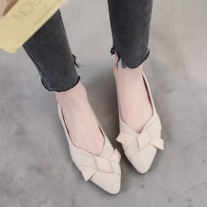 【shoes】リボン付き合わせやすい人気パンプス26703658