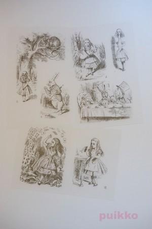 プリント済みプラバン 「不思議の国のアリス」テニエルによるイラスト