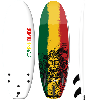 Storm Blade 4'10 (58inc) Mini Board / WHITE  RASTA GRAPHIC