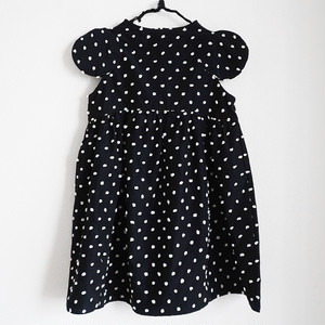 BONBON CUT JQ 2DOTS SLEEVES DRESS / WOMEN