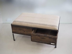 品番UESW-121  2drawer ottoman[wide/European grain sacks]