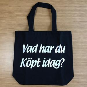 トートバッグ(今日は何を買ったの?) ブラックxホワイト