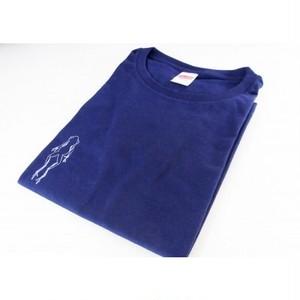 萬屋蛙商店 インディゴTシャツ GMサイズ 紺色 5001-03GM-1703