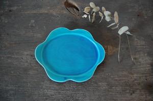 おはなプレート 【小/うみ】|wakako ceramics