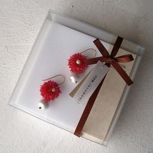 花言葉と贈る*千日紅のピアス/イヤリング