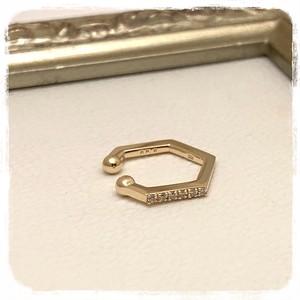 <K10>ダイヤ入りイヤーカフ