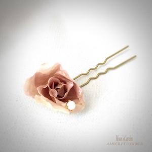 かんざし 薔薇『ブルームーン』落ち着いた大人のかんざし【serial number0104】