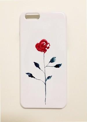 iPhoneSE/6/6s/7/8/Xケース〈one rose〉