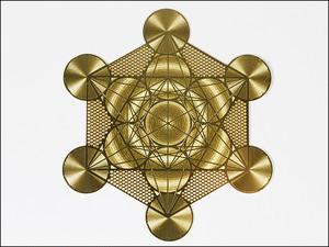 神聖幾何学図形・タリズマン(護符)エナジーカード・メタトロンの立方体(浄化)