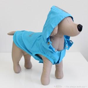 【M~L】犬用レインコート メッシュパーカー 4021
