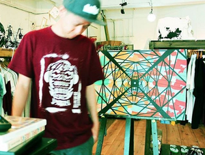 "THE FIRST ORIGINAL ""GAZE"" STENCIL Tee"